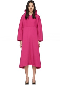 Balenciaga Pink Cocoon Hooded Sweatshirt Dress