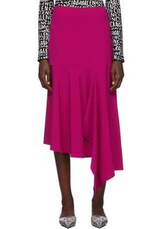 Balenciaga Pink Godet Drape Skirt