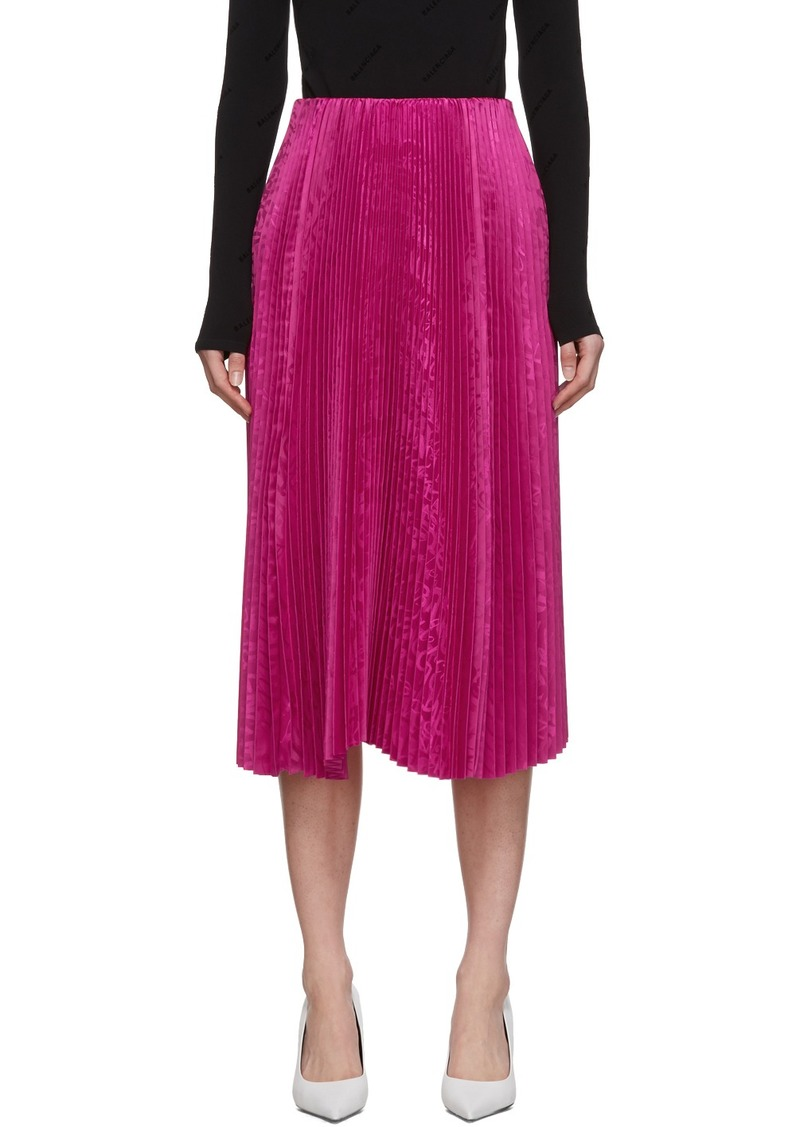 Balenciaga Pink Pleated Kick Skirt