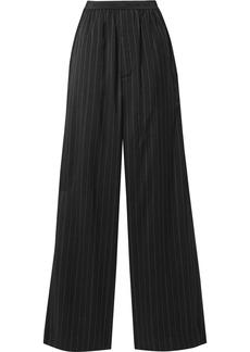 Balenciaga Pinstriped Twill Wide-leg Pants
