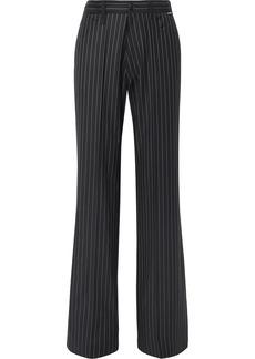 Balenciaga Pinstriped Wool And Cashmere-blend Pants