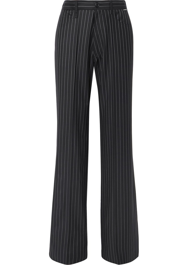 Balenciaga Pinstriped Wool And Cashmere-blend Pants