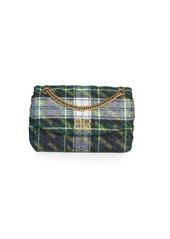 Balenciaga BB Logo Plaid Leather Crossbody Bag