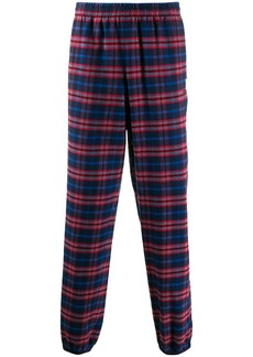 Balenciaga plaid tracksuit trousers