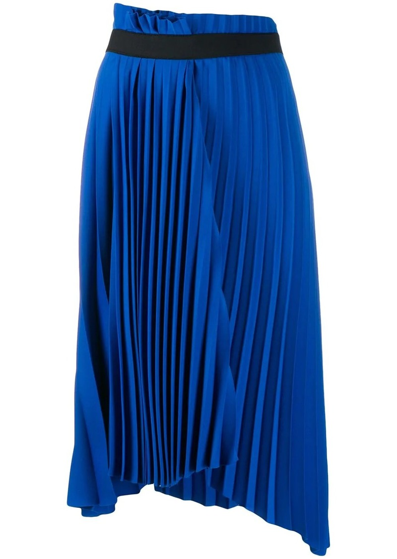 Balenciaga pleated asymmetric skirt