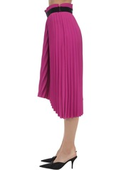 Balenciaga Pleated Crepe Skirt W/ Logo Detail