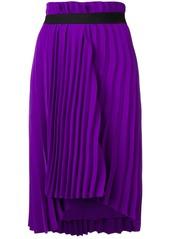 Balenciaga pleated elastic skirt
