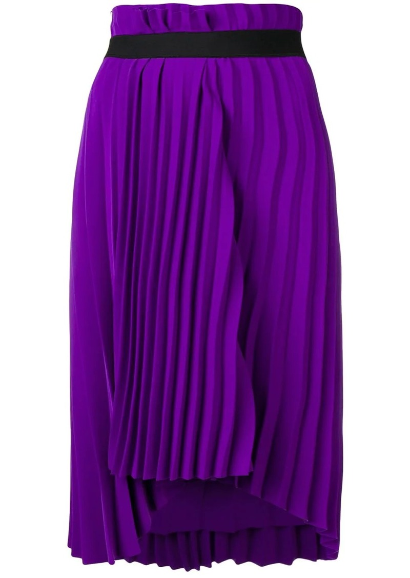 Balenciaga pleated elastic skirt