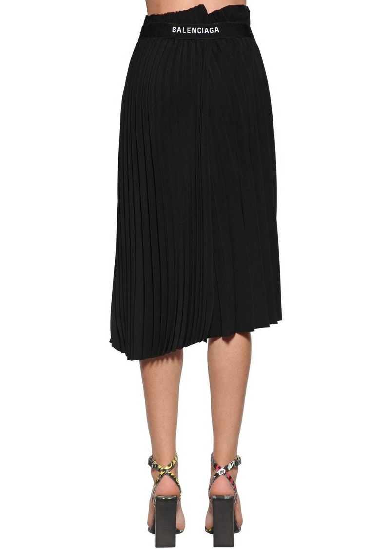 Balenciaga Pleated Jersey Midi Skirt