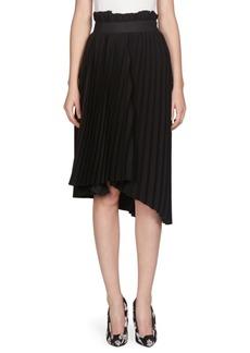 Balenciaga Pleated Logo Waist Skirt