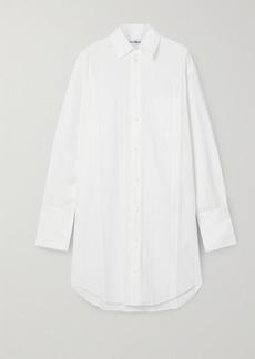Balenciaga Pleated Poplin Shirt Dress