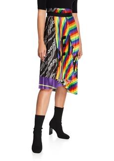 Balenciaga Plisse Logo Skirt