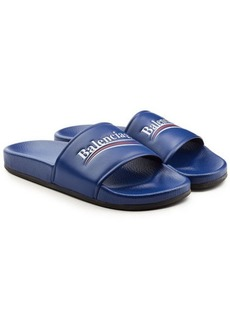 Balenciaga Political Leather Slides