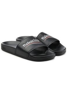 Balenciaga Political Leather Slides