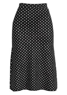 Balenciaga Polka Dot A-Line Skirt