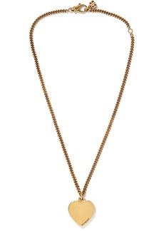 Balenciaga Precious Heart Gold-tone Necklace