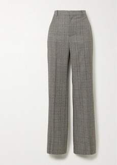Balenciaga Prince Of Wales Checked Wool Straight-leg Pants