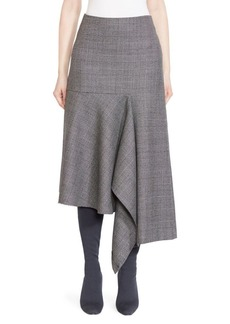 Balenciaga Prince of Wales Virgin Wool Godet Skirt