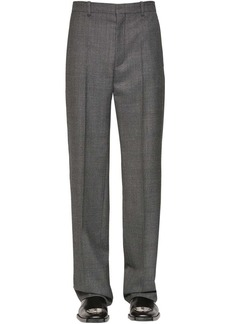 Balenciaga Prince Of Wales Wool Trousers