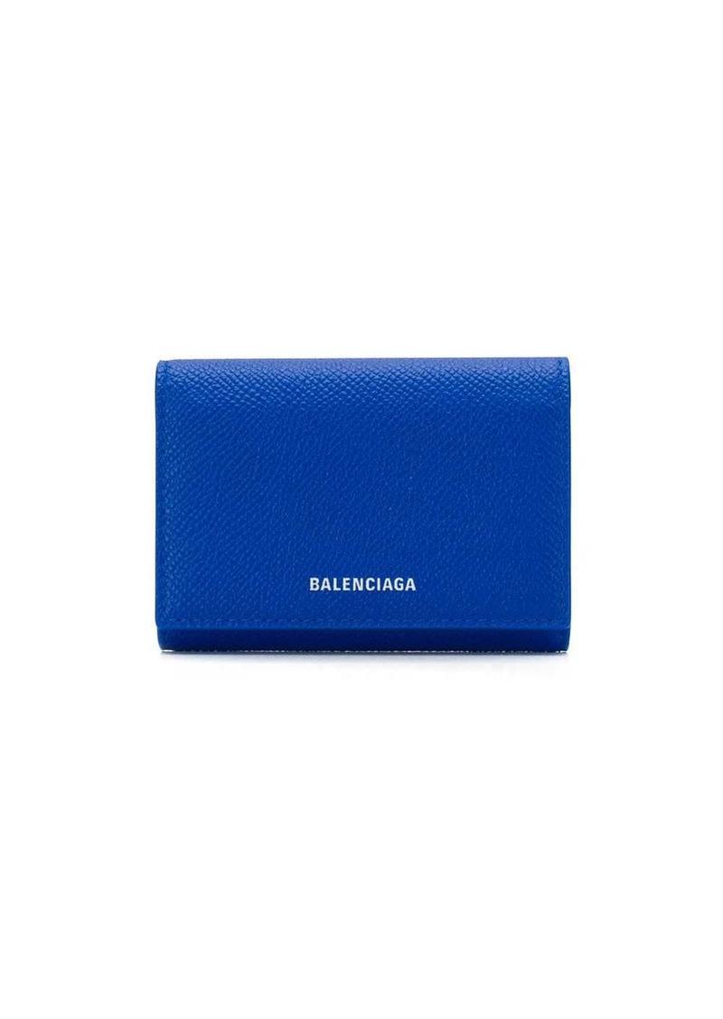 Balenciaga printed logo mini wallet