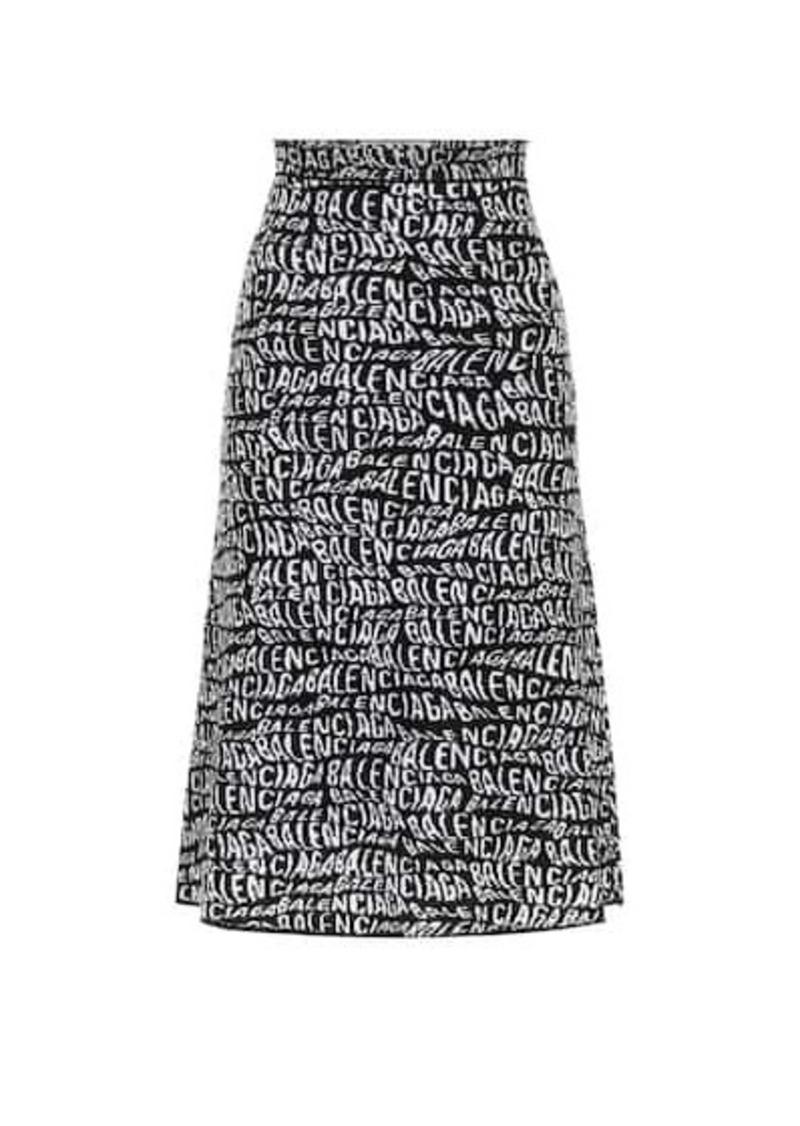 Balenciaga Printed midi skirt
