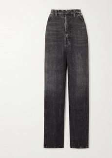 Balenciaga Printed Satin Wide-leg Pants