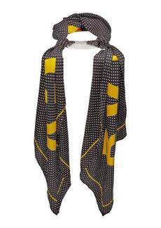 Balenciaga Printed Silk Scarf