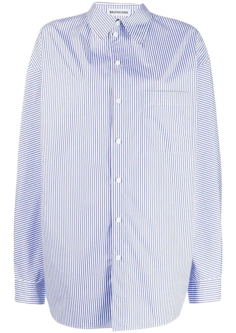 Balenciaga pulled striped shirt