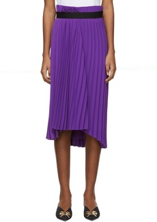 Balenciaga Purple Fancy Pleated Skirt