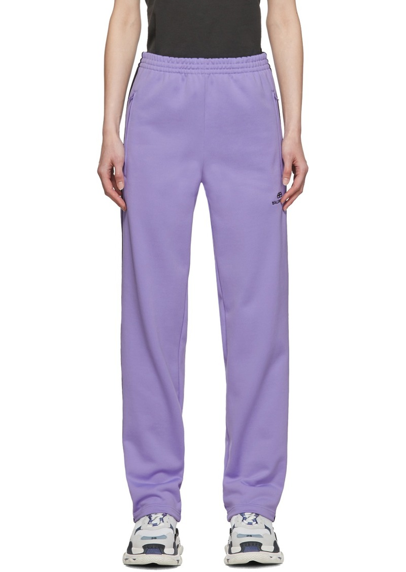 Balenciaga Purple French Terry Lounge Pants