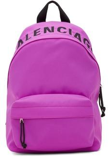 Balenciaga Purple Small Wheel Backpack