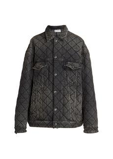 Balenciaga Quilted Japanese Denim Jacket