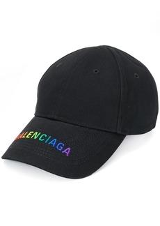 rainbow Balenciaga cap