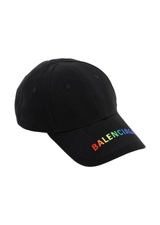 Balenciaga Rainbow Visiot Cotton Baseball Hat
