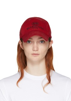 Balenciaga Red BB Cap