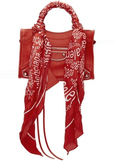 Balenciaga Red Mini City Scarf Bag