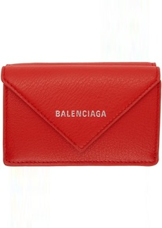Balenciaga Red Mini Papier Wallet