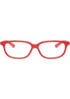 Balenciaga Red Rectangular Cat-Eye Glasses