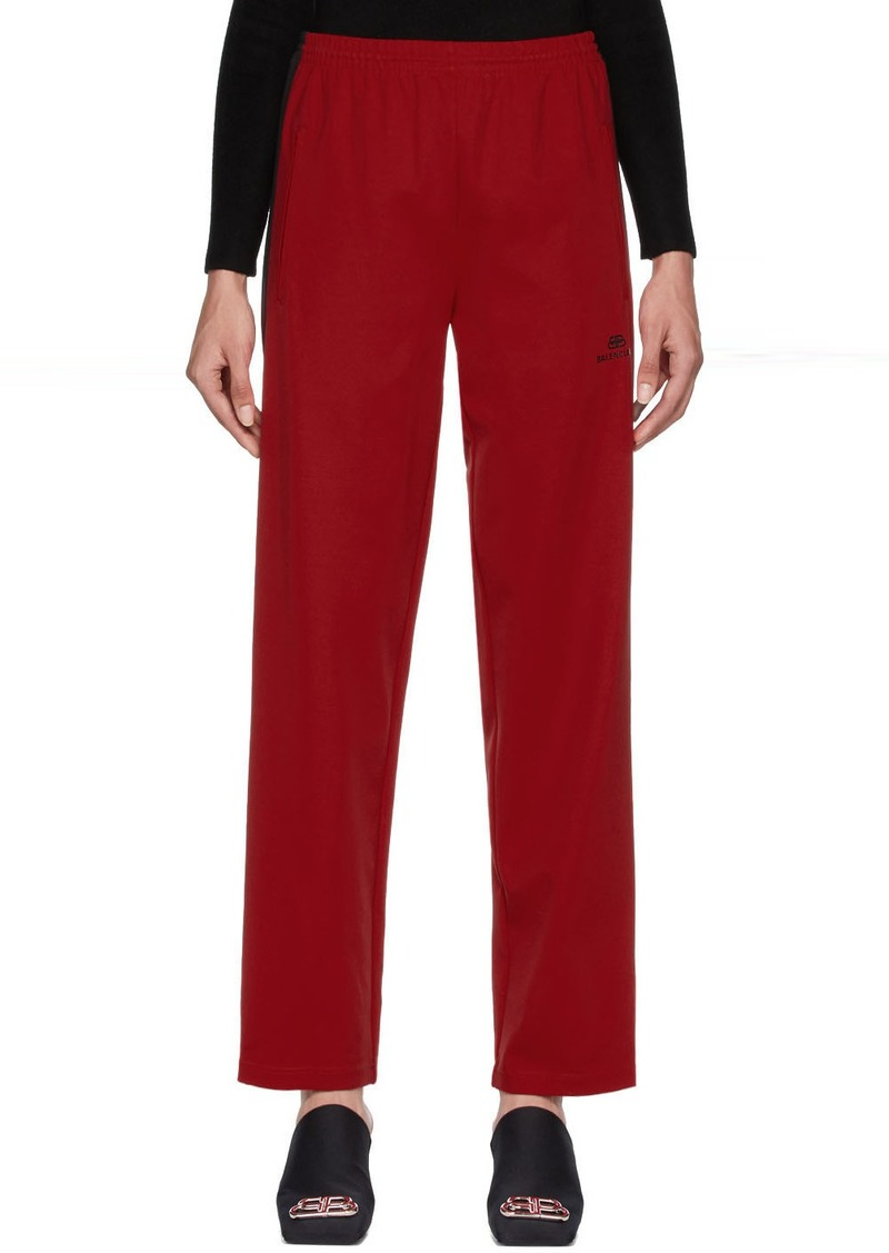 Balenciaga Red Tracksuit Lounge Pants