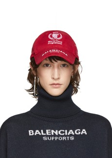 Balenciaga Red World Food Programme Embroidered Cap