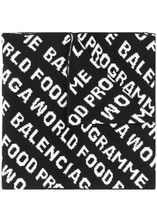 Balenciaga repeated logo scarf