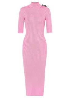 Balenciaga Ribbed-knit midi dress