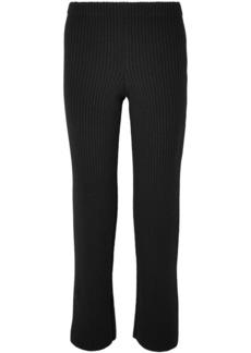 Balenciaga Ribbed-knit Straight-leg Pants