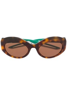 Balenciaga round tortoise-shell sunglasses