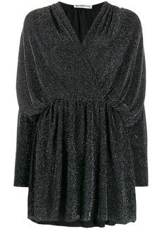 Balenciaga ruched wrap front dress