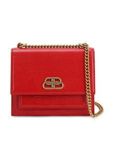 Balenciaga S Sharp Printed Leather Shoulder Bag