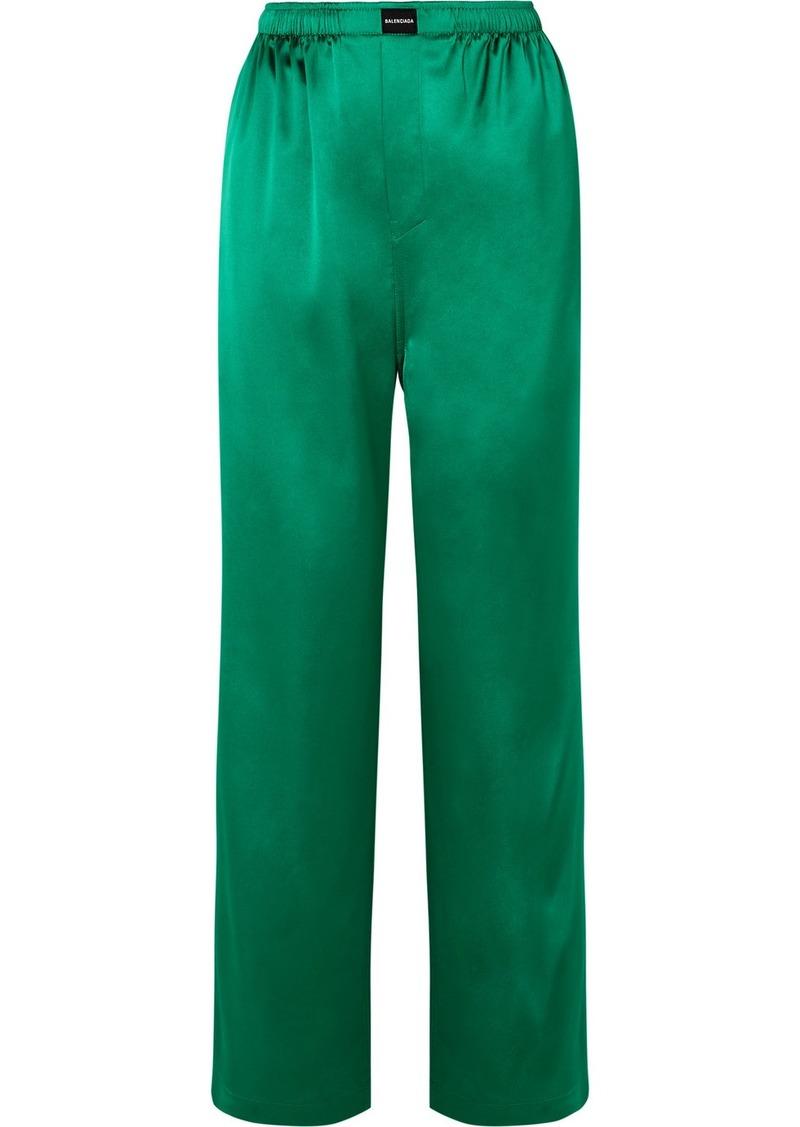 Balenciaga Satin Track Pants