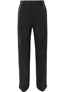 Balenciaga Satin-trimmed Crepe Straight-leg Pants