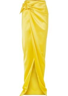Balenciaga Satin Wrap Maxi Skirt