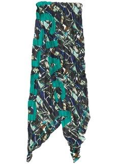 Balenciaga SC Inked Abstract Twill scarf